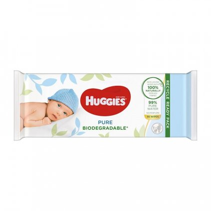 HUGGIES Vlhčené obrúsky Pure Biodegradable