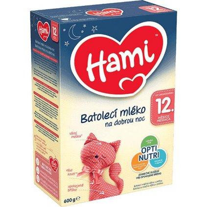 6x HAMI Batoľacie mlieko na dobrú noc 600 g 12+