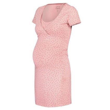 NOPPIES Košeľa nočná tehotenská krátky rukáv Suzy Silver Pink