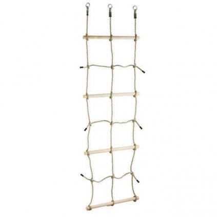 DVĚ DĚTI Šplhacia sieť s drevenými priečkami