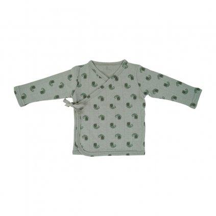LODGER Kabátik detský s dlhými rukávmi Topper Flame Tribe Silt Green veľ. 56