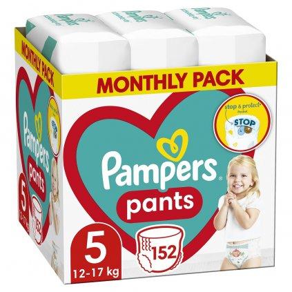 PAMPERS Pants 5 Active Baby Dry 152 ks (11-18 kg) MESAČNÁ ZÁSOBA - plienkové nohavičky