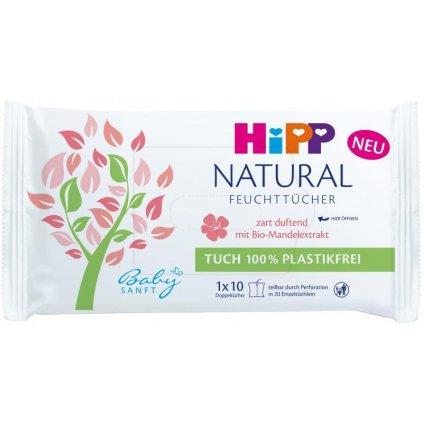 HiPP Babysanft Čistiace vlhčené obrúsky Natural 10 ks