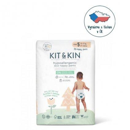 KIT & KIN ekologickej plienkové nohavičky (pull-ups), veľkosť 5 (20 ks), 12-17 kg