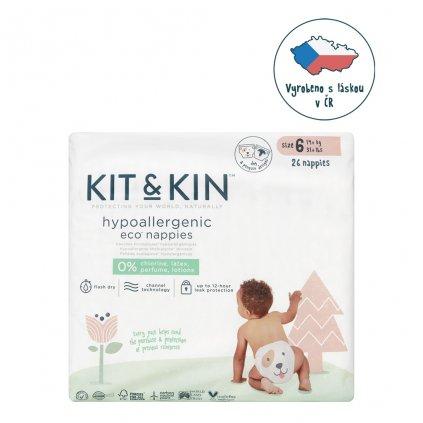 KIT & KIN eko plienky, veľkosť 5 (26 ks), 14kg+