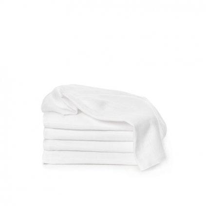 T-TOMI Látkové TETRA plienky 70 x 70, sada 5 ks, biele, Exclussive Collection