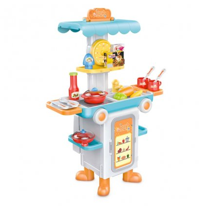Detska rozkladacia kuchynka autobus Bayo + prislusenstvo