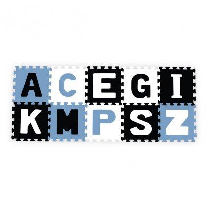 Penove puzzle 30x30 cm 10 ks Baby Ono pismenka modre