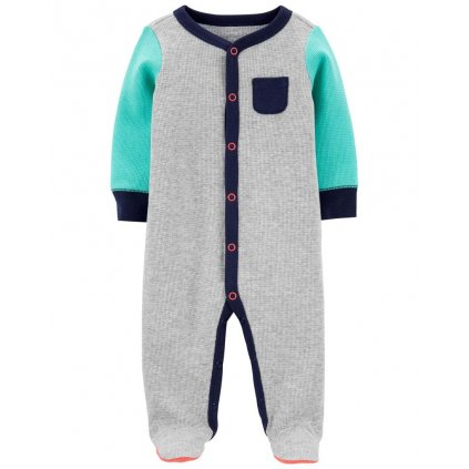CARTER'S Overal na cvoky Grey chlapec