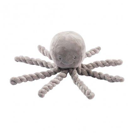 NATTOU Prvá hračka pre bábätka chobotnička PIU PIU Lapidou grey 0m+