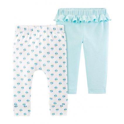 CARTER'S Nohavice dlhé 2 ks, biela/modrá
