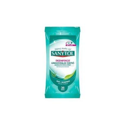 SANYTOL Dezinfekcia jednorazové čistiace utierky vôňa eukalyptu 36 ks