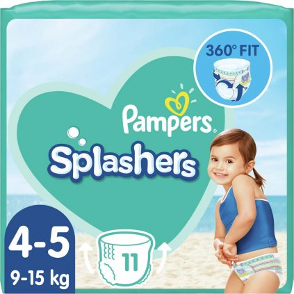 PAMPERS Plienky do vody Splashers 9-15kg 11ks