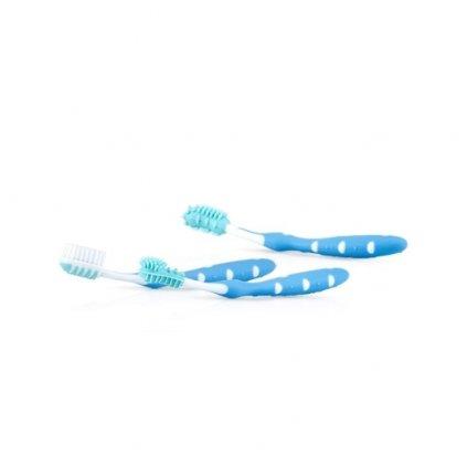 NUBY Zubné kefky súprava 3 ks modrá 3 m+