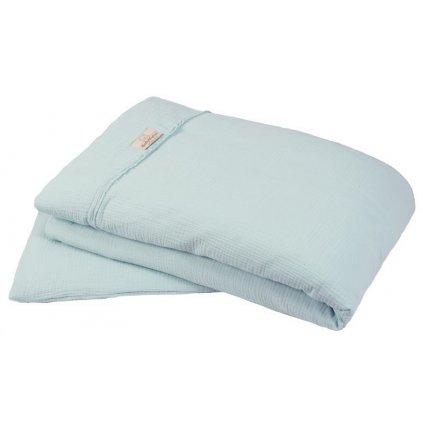 BABYMATEX Bielizeň posteľná Muslin svetlo tyrkysová 2-dielna