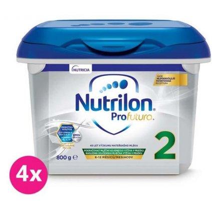 4x NUTRILON 2 profutura pokračovacie dojčenské mlieko 800 g, 6+