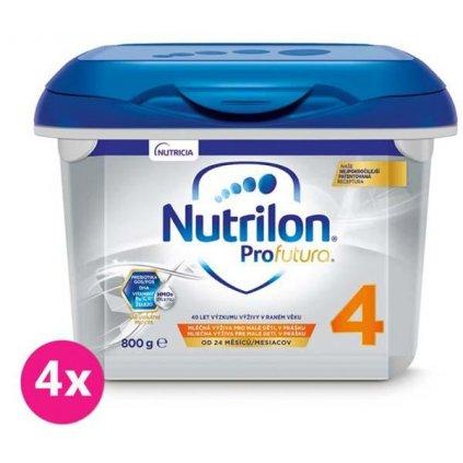 4x NUTRILON 4 Profutura batoľacie mlieko 800 g, 24+