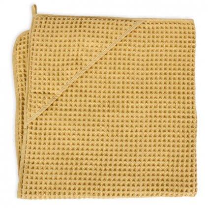 CEBA Osuška s kapucňou Froté Waffle Line 100 x 100 Cream Gold Ceba