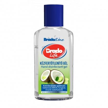 BradoLife biocídny antibakteriálny gél MINI kokos-limetka