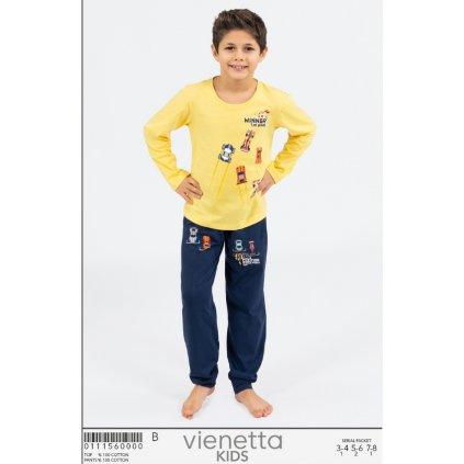 Vienetta chlapčenské pyžamo žlté