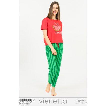 Vienetta dámske pyžamo melón dlhé