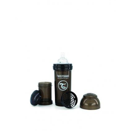 TWISTSHAKE Fľaša dojčenská Anti-Colic 260 ml Čierna