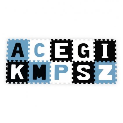 BABYONO Puzzle penové abeceda 10 ks, 6m+