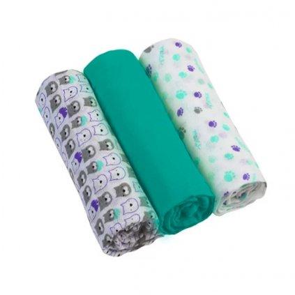 BABYONO Plienky mušelínové - Super soft 3ks - Mint
