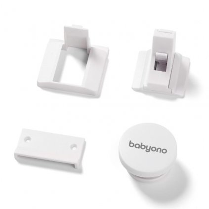 BABYONO Zámky bezpečnostné magnetické White 4 ks