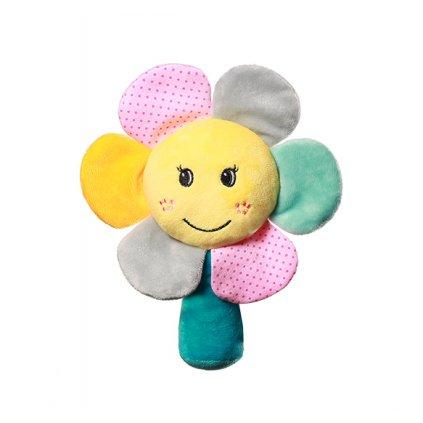 BABYONO Hračka hrkálka Rainbow Flower