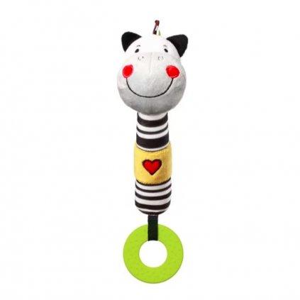 BABYONO Hračka pískacia s hryzačkou C-MORE zebra Zack