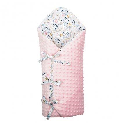 Luxusná šnurovacia Zavinovačka z Minky New Baby Jarabina 75x75 cm