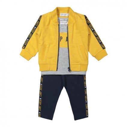 DIRKJE Set 2.d mikina + tričko + nohavice Žltý