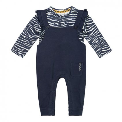 DIRKJE Set 2.d nohavice s trakmi + tričko Modrý dievča
