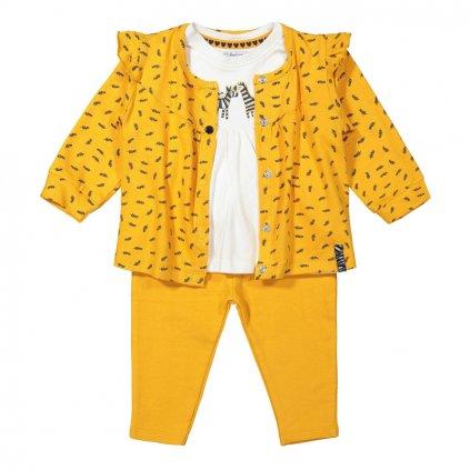 DIRKJE Set 3.d mikina + tričko + nohavice Žltý dievča