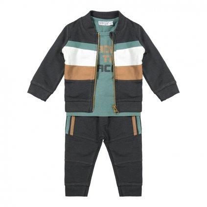 DIRKJE Set 3.d mikina + tričko + nohavice Mint chlapec