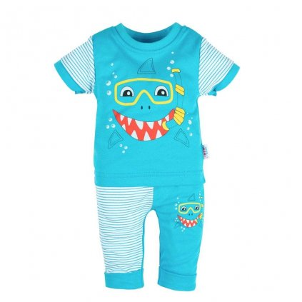 Dojčenské tričko s krátkym rukávom a tepláčky New Baby Shark