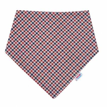 Dojčenská šatka na krk New Baby Checkered