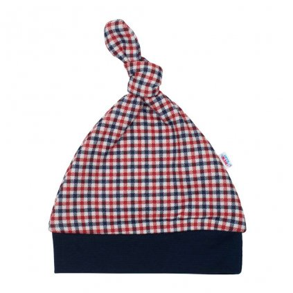 Dojčenská bavlnená čiapočka New Baby Checkered