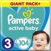 Plienky Active Baby 3 MIDI 6-10kg 104ks Pampers
