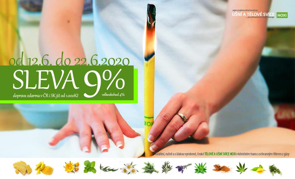 Do slunovratu u Hoxi SLEVA 9% na ušní a tělové svíce