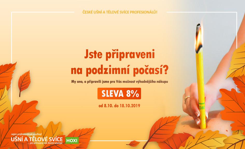 Hoxi ušní a tělové svíce - podpora prevence v podzimním počasí