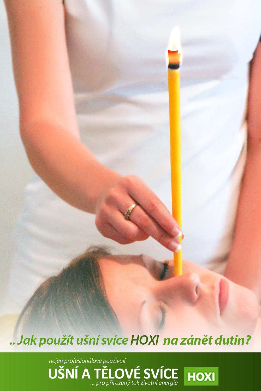 Jak správně použít ušní svíce HOXI při zánětech dutin - návod