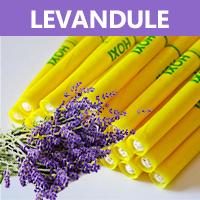 Ušní a tělové svíce HOXI s Levandulí