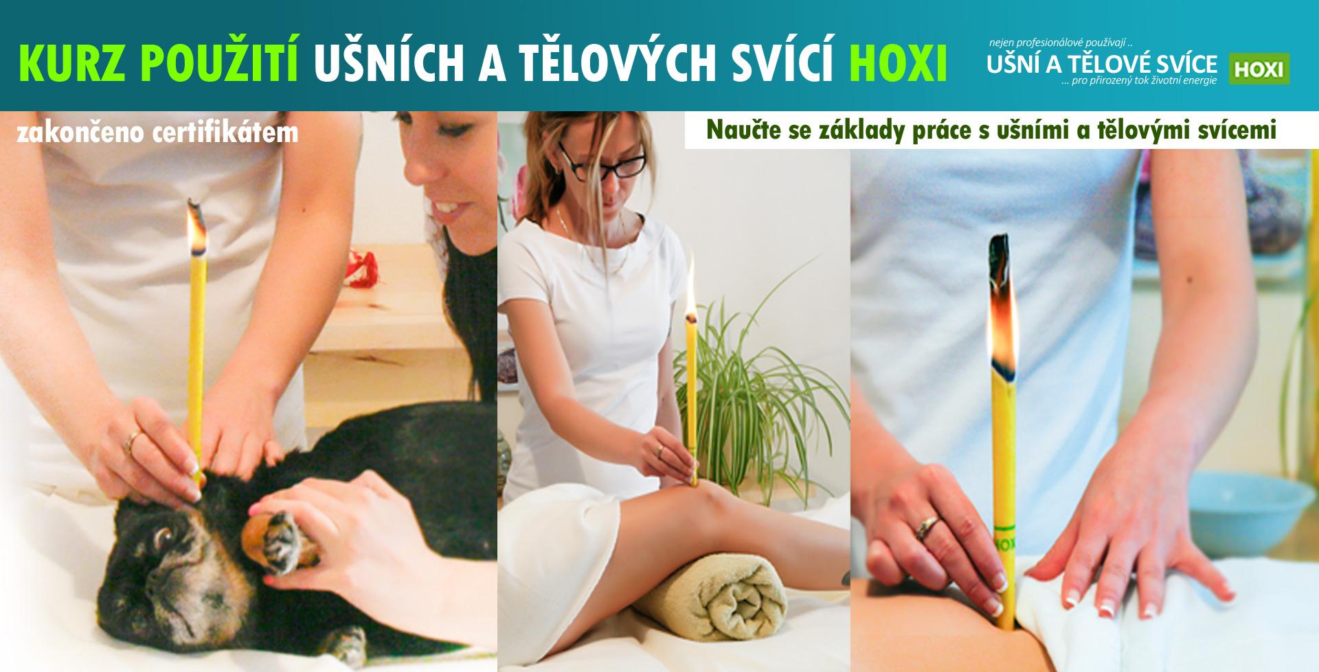HOXI-Kurz použití ušních a tělových svící Hoxi