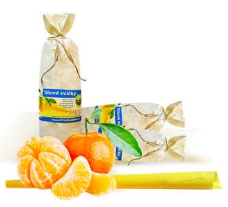 HOXI ušní a tělové svíce s esenciálním olejem Mandarinky