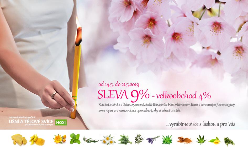 HOXI ušní a tělové svíce  - výhodnější nákupy v květnu - SLEVA 9 procent