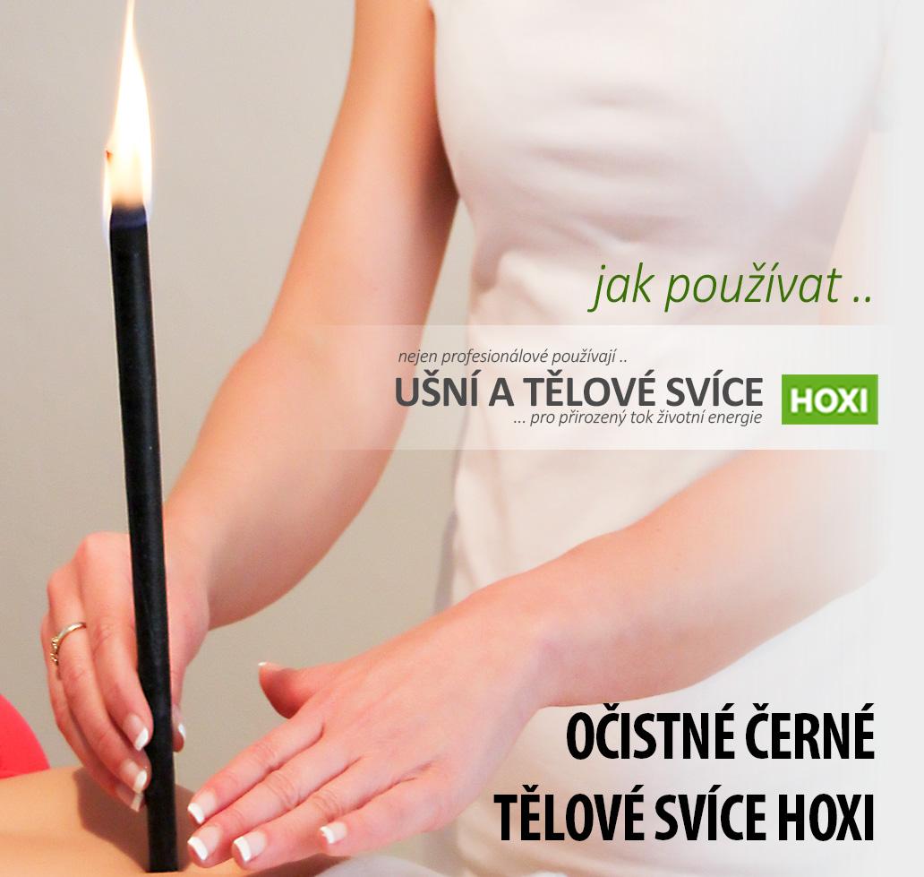 HOXI-ušní-a-tělové-svíce- Očistná a detoxikační černá tělová svíce HOXI s esenciálním olejem Eucalyptu