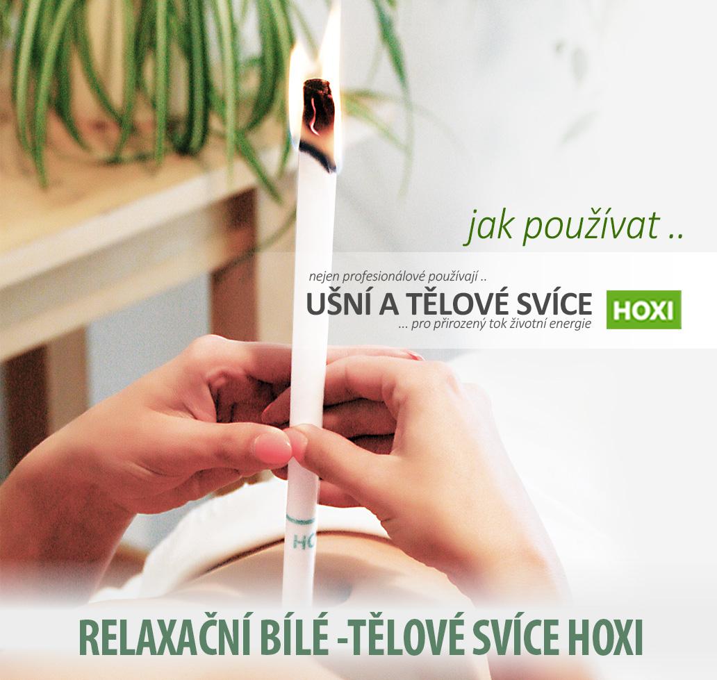HOXI-ušní-a-tělové-svíce- Očistná a relaxační bílá tělová svíce HOXI s esenciálním olejem Eucalyptu