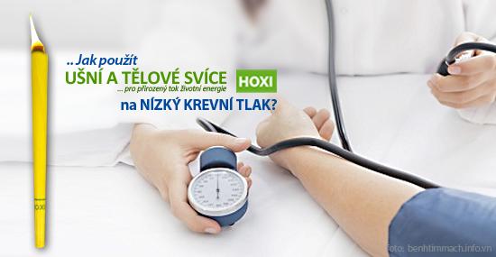 Aplikace tělových svící HOXI na nízký krevní tlak